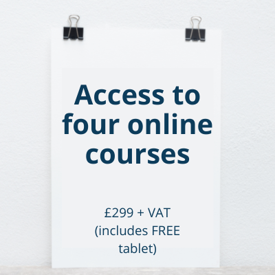 Four course access with Fire HD Tablet